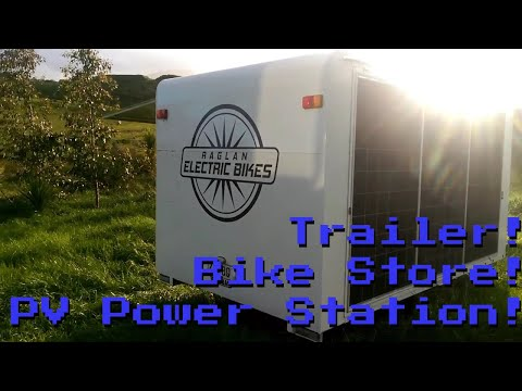 Solar Powersatation, Pop-Up Bikeshop and Trailer