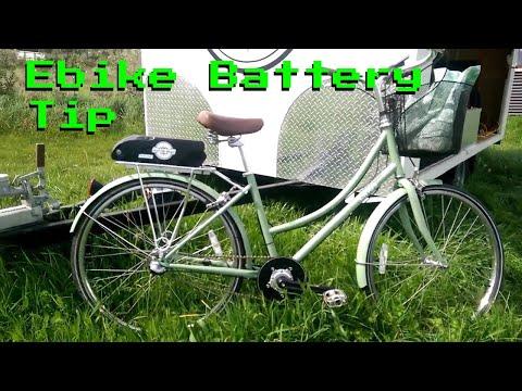 Rack Mounting a 'Downtube' ebike battery