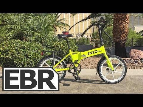 Enzo Ebikes Folding Electric Bike Video Review - $1.7k Water Resistant Hardware, Belt Drive Option