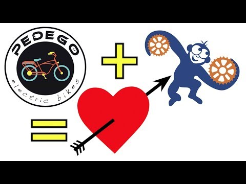 Blue Monkey LOVES Pedego Electric Bikes