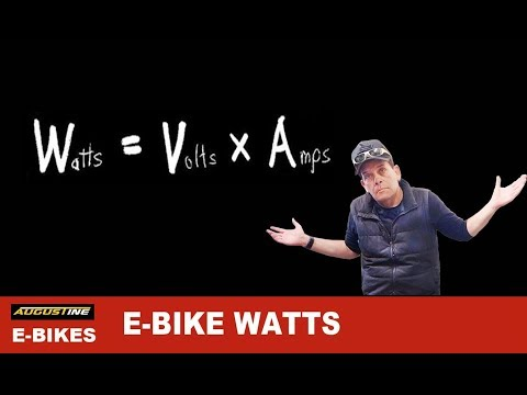 Understand Your Ebike's wattage