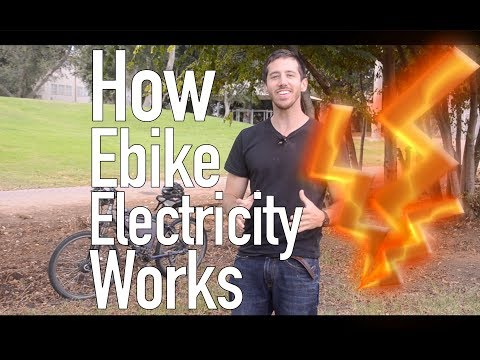 How electricity flows in an electric bicycle