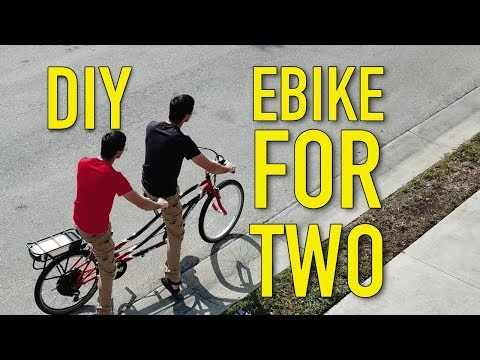 How to build a DIY 2 person 1,000W electric bicycle tandem