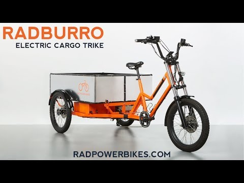 RadBurro Electric Cargo Trike - Rad Power Bikes Commercial Division