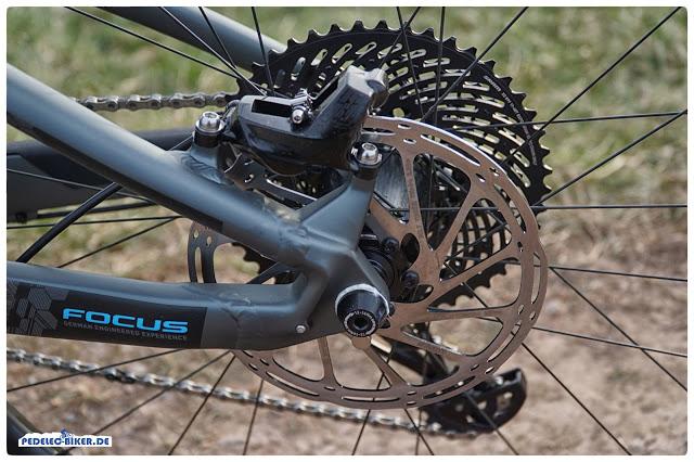 Der Magnet zur Geschwindigkeitserfassung befindet sich beim Sam² an der Bremsscheibe, nicht an der Speiche.