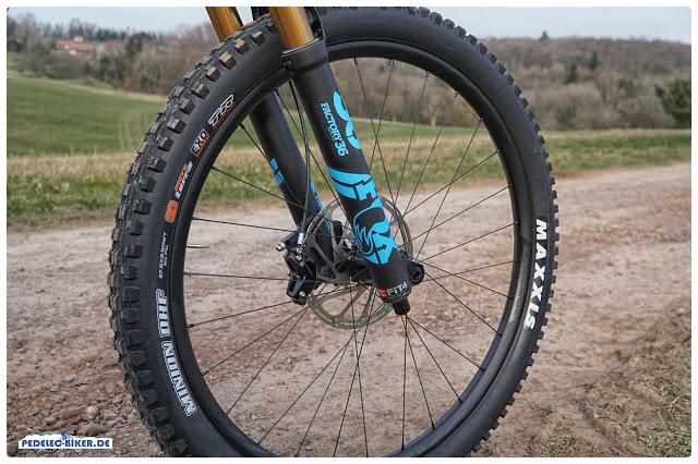 """Am Vorderrad des Sam² ist ein 2,5"""" breiter Reifen angebracht."""