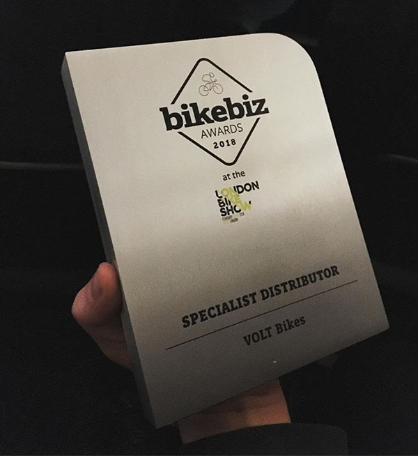BikeBiz Awards 2018 Specialist Distributor Award