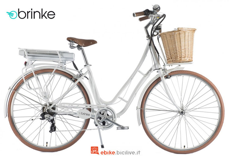 Una ebike elegante Brinke Golden Gate Ladies