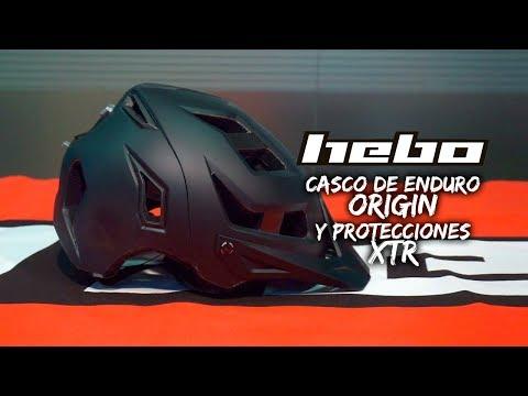 HEBO: casco ORIGIN para Enduro y protecciones XTR