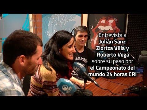 Julián Sanz, Ziortza Villa y Roberto Vega en el Campeonato del Mundo 24 horas CRI