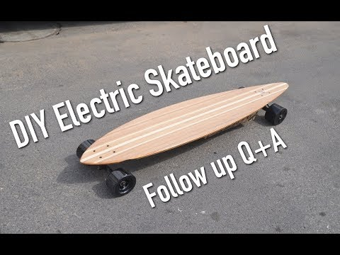 DIY Electric Skateboard Follow-up Q&A
