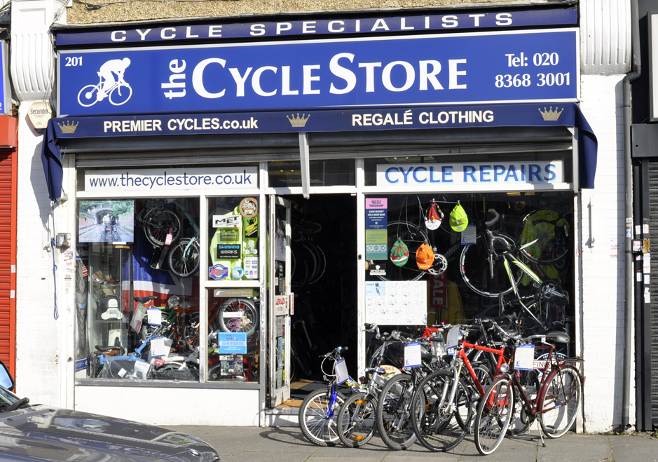 The CycleStore storefront in North London