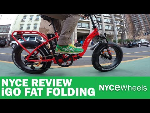 iGo Fat Folding Electric Bike Review - $1699 All Purpose E-Bike!