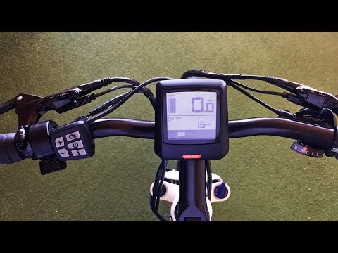 Bafang DP C07.UART Electric Bike Display Settings
