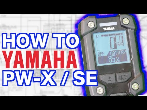 How To: YAMAHA Computer PWX, SE  | Yamaha display PW-X or PW-SE ebikes