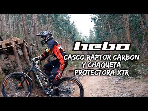 Para los endureros: casco RAPTOR CARBON y chaqueta protectora XTR de HEBO