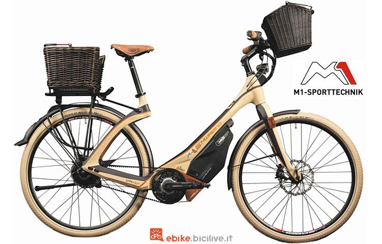ebike da città con trasmissione a cinghia M1 Sport Technik