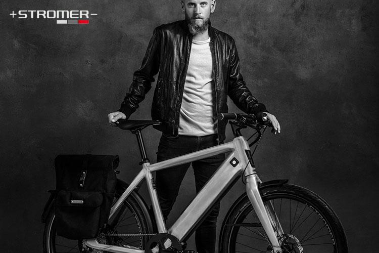 Una bici elettrica Stromer ST2 LTD moderna e piena di stile