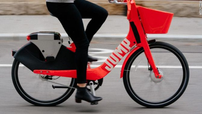 Uber Acquires Jump Bikes Dockless Electric Bike-share