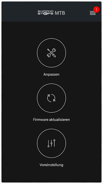 In der Shimano App können individuelle Motoreinstellungen und Firmware-Updates vorgenommen werden.