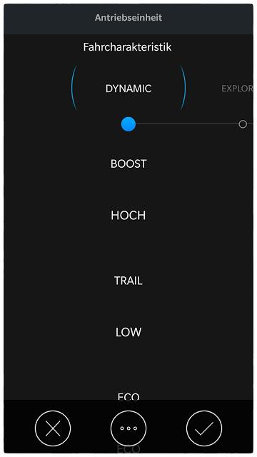Der Modus Dynamik lässt sich in der Shimano App separat einstellen.