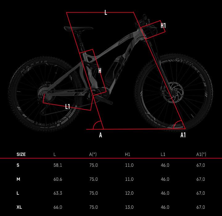 Wilier e803ENDURO Di2 Geometrie