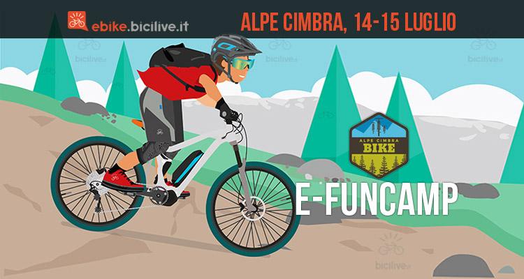 rider all'e-fun camp all'Alpe Cimbra