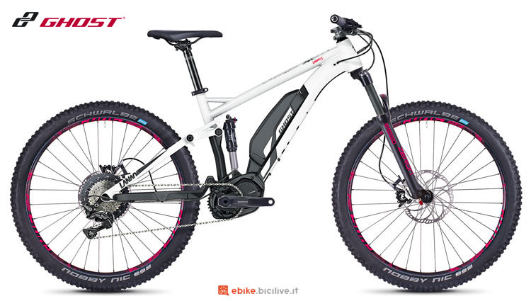 Una mountain bike a pedalata assistita Ghost Hybride Lanao FS S3.7+ AL 2018