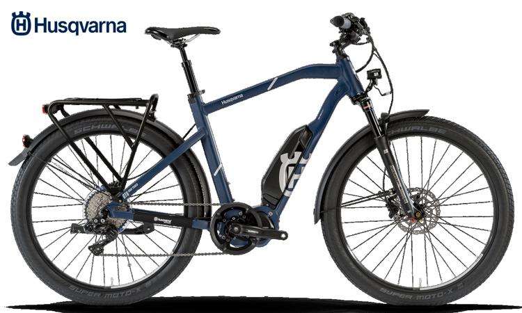 Una bici a pedalata assistita GT6 della linea Gran Tourer di Husqvarna