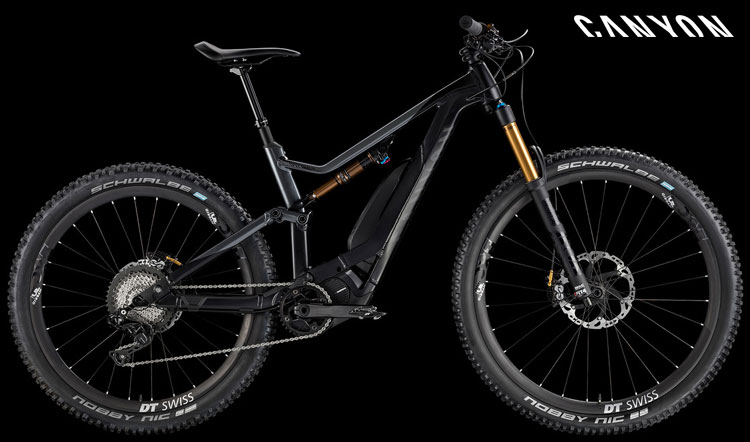 Una ebike full suspended Canyon Spectral:ON 9.0 dell'anno 2018