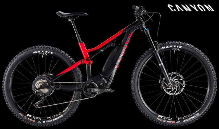 Una mtb a pedalata assistita full suspended Canyon Spectral:ON 7.0 versione da donna