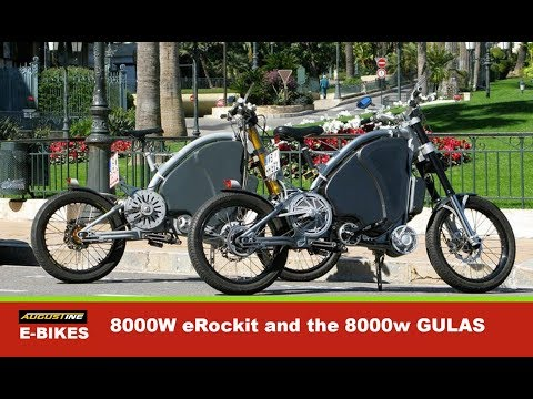 8000W eRockit and the 8000w GULAS PI Electric Bikes. Early powerful Ebike adaptors