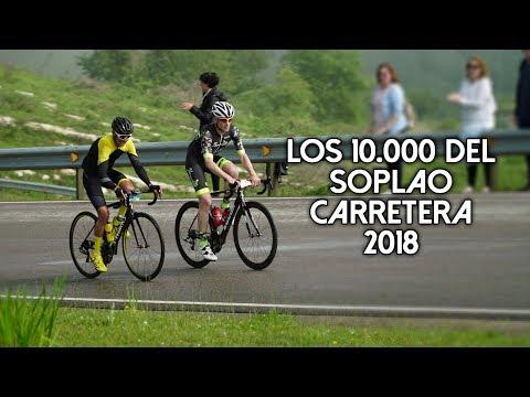 Los 10.000 del Soplao Carretera 2018 y homenaje a exciclistas profesionales