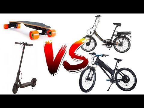 Ultimate Commuting Showdown! e-bike vs e-scooter vs esk8
