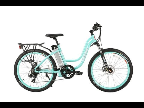 X treme trail climber electric bike mint green step through frame In stock for only $849