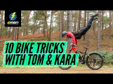 10 Flat Ground Bike Tricks You Can Learn Almost Anywhere!   Feat. Tom Cardy & Kara Beal