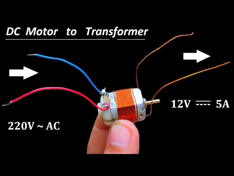 12V 5A DC Supply from 220V AC using DC Motor as Transformer – NEW IDEA