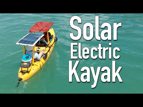 DIY solar powered electric kayak (overview and demo)