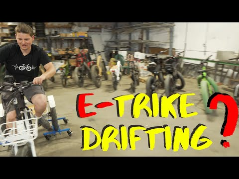 Drifting An Electric Bike With Three Wheels