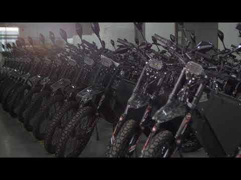Some Delfast e-bikes ready to be shipped