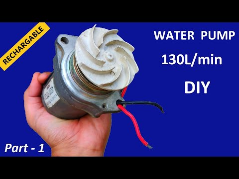 30L/min – Make 12V DC Motor & UPS Battery Operated High Pressure Water Pump | Portable Rechargeable