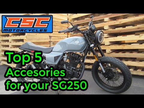 Top 5 Accessories for your CSC SG250 Cafe Racer
