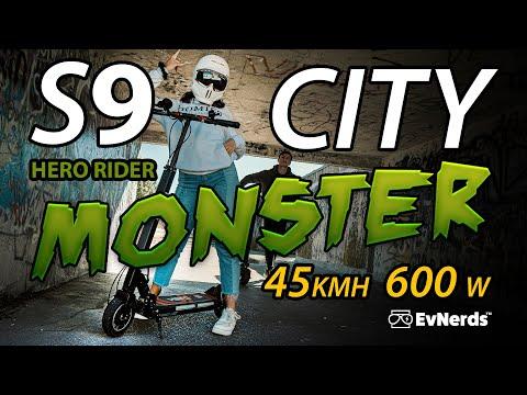 HERO S9 Electric Scooter Review – 45 KMH / Better than Zero 8, Zero 9, Apollo City!