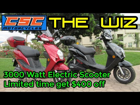 CSC Motorcycles Electric Scooter The WIZ