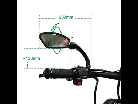 Bicycle Ebike rearview mirror installation