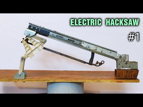 SIMPLEST !!! Make a Power Hacksaw using DC Motor